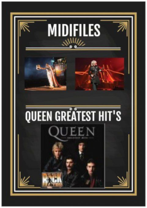 Midifiles/Playbacks QUEEN Greatest Hit's